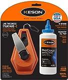 Keson K3X4B 3X1 Rewind Chalk Line Reel Combo, 4 oz, Blue