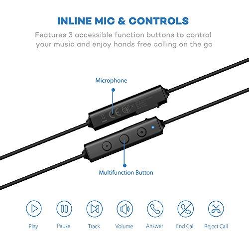 taotronics bluetooth headphones wireless in ear earbuds. Black Bedroom Furniture Sets. Home Design Ideas