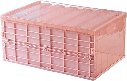 Baffect Pliegue Cajas Plegables, Cajas de Almacenamiento Plegables con Tapa, Cajas Plegables de Almacenamiento de plástico Plegables Cajas de Almacenamiento de plástico apilables Rosada (M): Amazon.es: Hogar