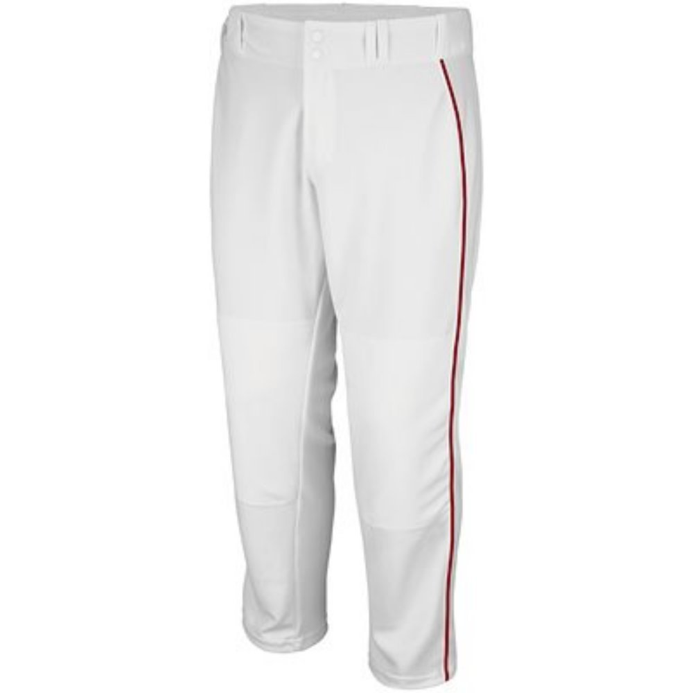 .Majestic Athletic PANTS メンズ B07573Z79C Small|White W/ Scarlet Piping White W/ Scarlet Piping Small