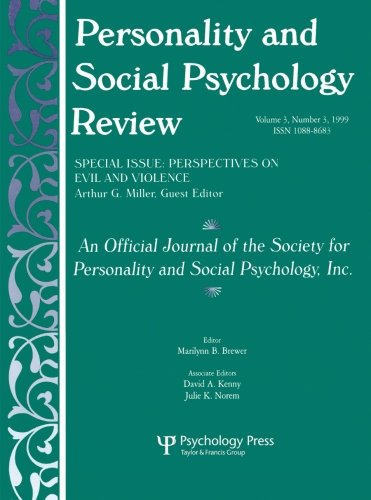 Personality and Social Psychology Review (Vol 3, No 3)