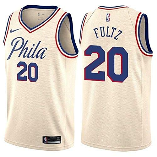 Pano.jk Men's Philadelphia #20 76ers Markelle Jersey Fultz Basketball Jersey Replica Player Jersey Icon Edition (Small, (Authentic Philadelphia 76ers White Jersey)