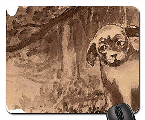 Gaming Mouse Pads,Mouse mat,Dog Owl Forest Woods Nature Trees Halloween ()