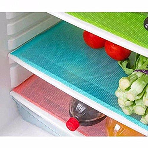 Kuber Industries Refrigerator Drawer Mat / Fridge Mat Set Of 6 Pcs (Multi Plastic)
