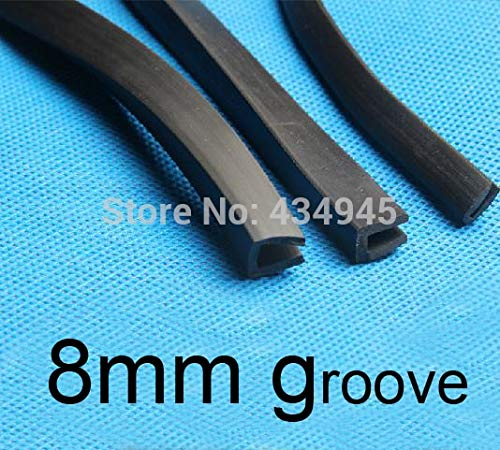 Ochoos 8mm Groove U Rubber Strip Bumper Strip Rubber Trough Saddle bar Article Edge Protection u-Shaped Seal Edge Banding New in Stock