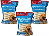 (3 Pack) Pet Factory U.S.A. Beef Hide Chip Rolls Chews for Dogs, Small/5'' (54 Rolls Total - 18 per Package)