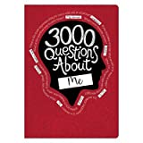 Piccadilly 3000 Questions About Me Activity Journal MULTI-COLORED