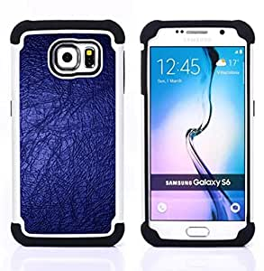 - blue wallpaper bling bright dark design/ H??brido 3in1 Deluxe Impreso duro Soft Alto Impacto caja de la armadura Defender - SHIMIN CAO - For Samsung Galaxy S6 G9200
