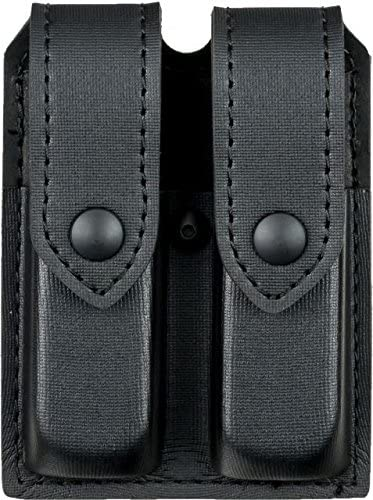 Safariland 77 double magazine pouch for Glock 17,22 Black matte with brass snap