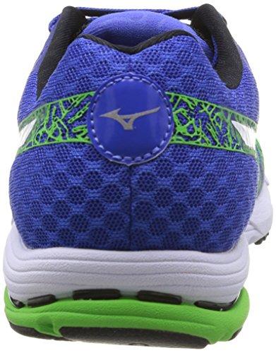 Mizuno - Zapatos para hombre Dazzling Blue/White/Green Flash