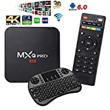 YoungGo 2018 MXQ PRO 4K Android TV BOX Amlogic S905X [1G/8G] Android 6.0 OS Quad Core 4K Support WiFi HDMI DLNA With Free 2.4GHz Smart Wireless Keyboard