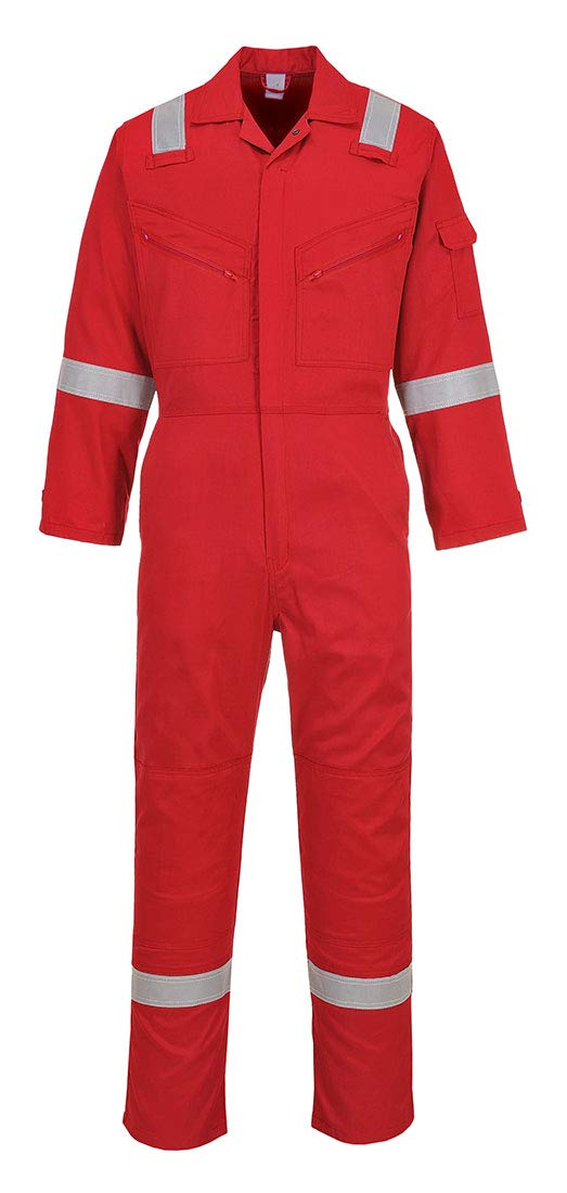 Portwest C814RERS Iona Cotton Coverall, Fabric, Small, Red