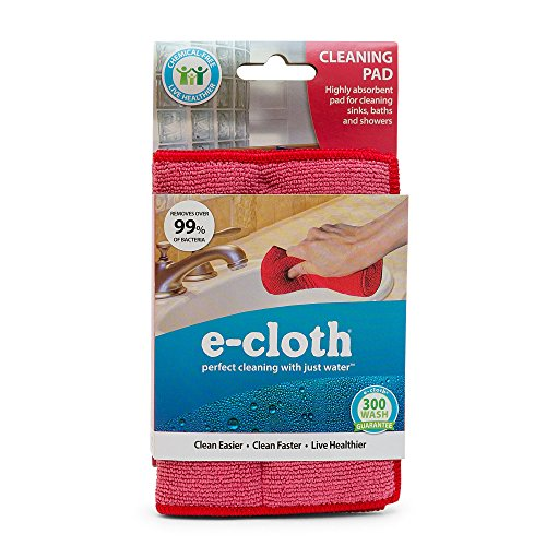 E-Cloth Cleaning Pad, Perfect Chemical Free Cleaning With Just Water, 99% Antibacterial