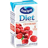 Ocean Spray Diet Juice Drink, Cranberry, 4.2 Ounce Juice Box (Pack of 40)