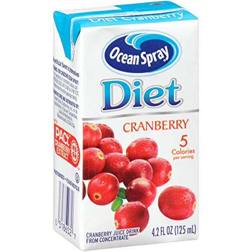 - Ocean Spray Diet Juice Drink, Cranberry, 4.2 Ounce Juice Box (Pack of 40)