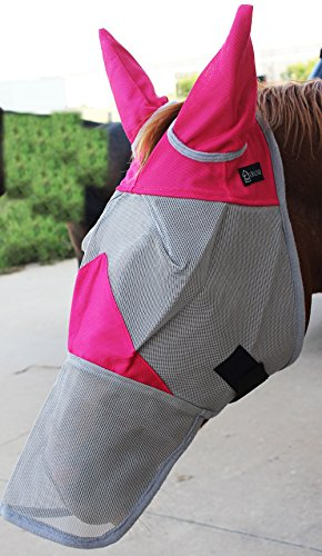 Challenger Horsewear Equine Horse Fly Mask Summer Spring Airflow Mesh UV Mosquitoes 73281N ()