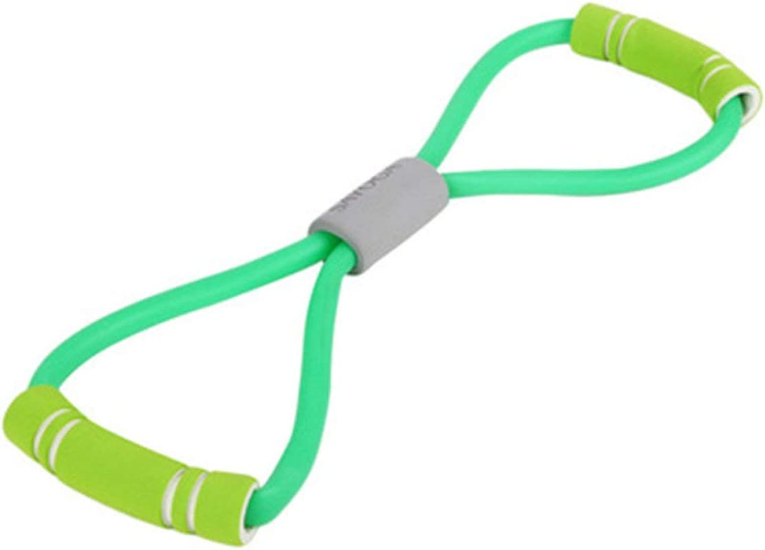 YUIO Stretch Rope Camilla de ocho caracteres Pecho de plástico Cofre de yoga Yoga Banda de goma Cinturón elástico Cuerda elástica (verde)