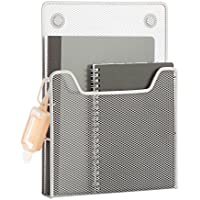 Honey-Can-Do BTS-06565 eXcessory Magnetic Mesh Pocket, Silver, 8.66L x 1.69W x 12.01H