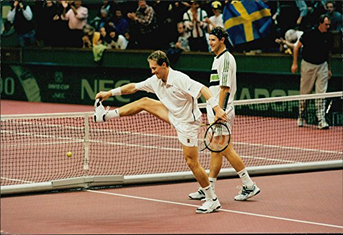 Vintage Photo Of Jonas Bj246 Rkman Makes His Special Victory And Nicklas Kulti  39 S Double Partner Is As Lucky As Winning The Spanish Double Pair Sanchez And Alonso