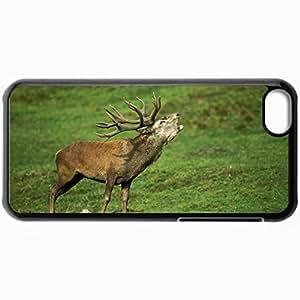 Fashion Unique Design Protective Cellphone Back Cover Case For iPhone 5C Case Deer Black