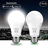 Dusk to Dawn Light Bulb Led Outdoor Lighting Sensor Bulbs Automatic Led Lightbulbs Sensing Socket Lamp Garage Lights 7W E26 Cold White Auto on/Off(2 Pack) … Review