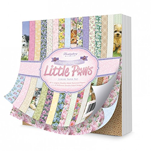 Hunkydory Crafts Return of The Little Paws 8x8 Paper Pad 48-DS 150gsm Sheets