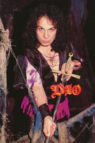 Ronnie James Dio Poster Black Sabbath Rainbow