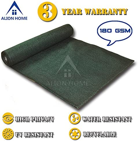 ALION HOME HDPE Shade Fabric Cloth 95 UV Block. 4 x 16 Dark Green