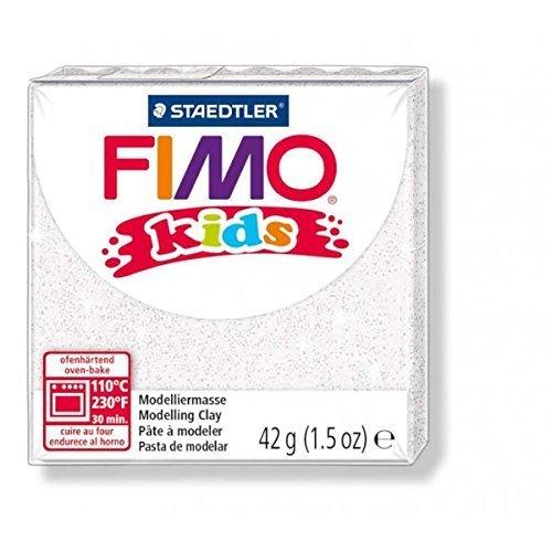 Original FIMO kids Modelliermasse 'Glitter Weiß (052)' (42 g) Staedtler