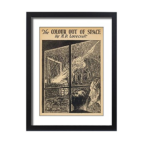 Framed 24X18 Print Of Lovecraft/colour/space (573377) by Prints Prints Prints