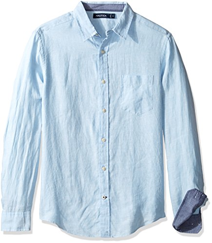 Nautica Sleeve Solid Color Button