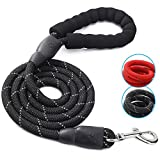 KPOO Reflective Dog Leash Heavy Duty Pet Rope Leash for Medium Large Dogs - 5Ft Long Durable Nylon Leash with Comfortable Padded Handle Dog Training Leash