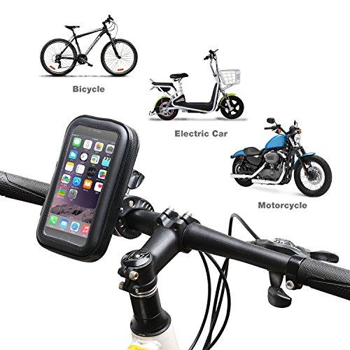 85%OFF Support vélo du guidon, AEMIAO Universel Support Fixation Guidon Bicyclette Cyclisme avec Étui Imperméable pour téléphone mobile 5,3 pouces - 6,0 pouces tels que iPhone 7 Plus 6S Plus 6 Plus