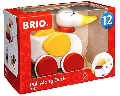 515WJ gbiTL - BRIO World - 30323 Pull Along Duck Baby Toy | The Perfect Playmate for Your Toddler