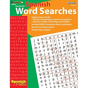 Amazon.com: Edupress Spanish In A Flash Word Searches 3: Unknown ...