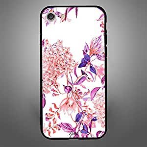 iPhone 8 Pink purple flower pattern