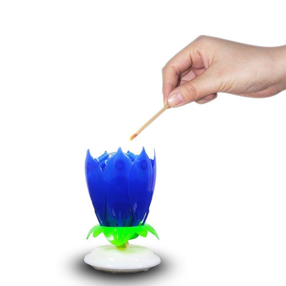 Fomccu amazing lotus rotating musical candle for happy birthday fomccu amazing lotus rotating musical candle for happy birthday musical flower magical blossom gift amazon toys games izmirmasajfo