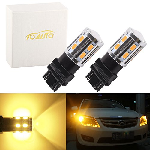 ToAUTO-2x-3156-3157-15-SMD-5730-led-Lamps-Auto-p277w-led-car-bulbs-Turn-Signal-External-Lights-Amber-Yellow