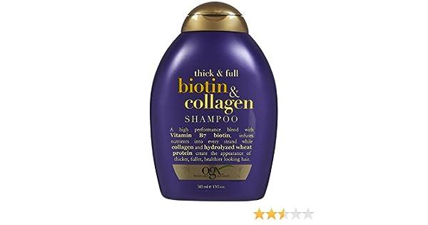 Amazon.com : Champú Para La Caida Del Cabello de Biotin & Colágeno- Tratamiento Para El Cabello Dañado y Maltratado- ✓ Producto 100% Garantizado 13 oz ...