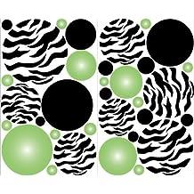 Mini- Green Radial Dot Wall Decal Stickers Decor