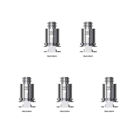 Bobina de repuesto SMOK Nord 5pcs - Bobina de malla 0.6ohm para rebozado SMOK Nord Kit