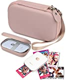 CaseSack Travel Pouch Case with Zipper for Polaroid ZIP Mobile Printer and HP Sprocket, Rose Gold