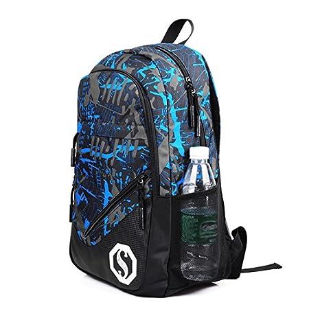 Juego de 3 mochilas escolares ultraligeras resistentes al agua para adolescentes, niños, casual, con bolsa de hombro pequeña y estuche para lápices (3 ...