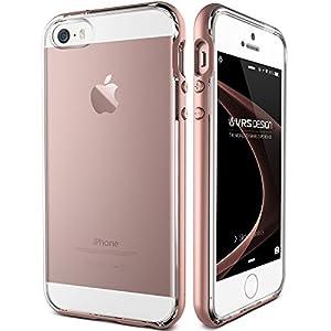 ddc94d4d1d3 VRS Design iPhone se funda/iphone 5s caso/iPhone 5 caso VRS diseño ® [Rose  oro] doble capa cubierta trasera Slim Fit – Carcasa de Protección  Transparente ...