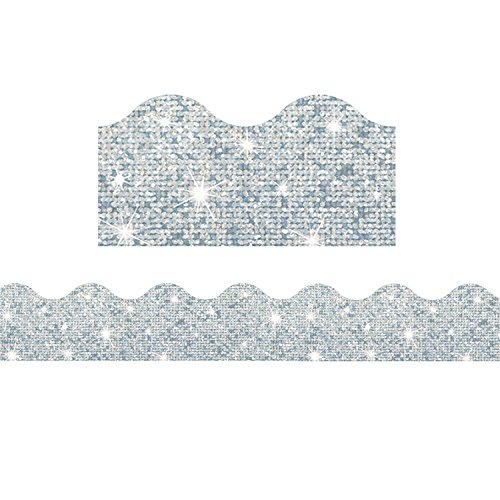 91408BN Silver Sparkle Terrific Trimmers, 32.5' per Pack, 6 Packs ()