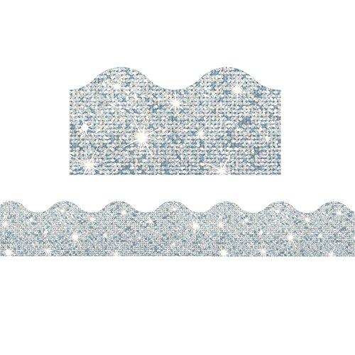 - TREND enterprises, Inc. T-91408BN Silver Sparkle Terrific Trimmers, 32.5' Per Pack, 6 Packs