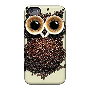 Apple Iphone 6s Plus KrV2865AzyY Unique Design High-definition Coffee Owl Image Protector Cell-phone Hard Covers -JohnPrimeauMaurice
