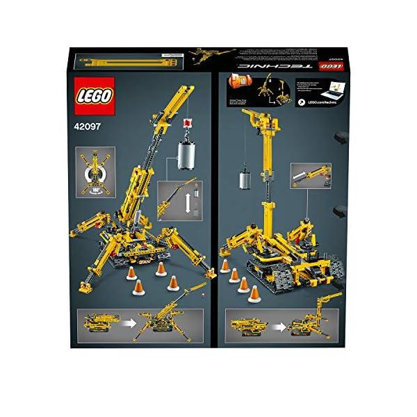 LEGO - Technic Gru Cingolata Compatta, Ricostruibile a Torre Compatta, Set di Costruzioni 2 in 1, 42097 7 spesavip