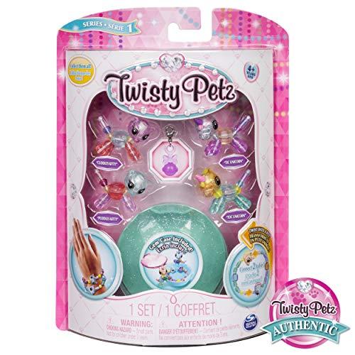Animal Twist - Twisty Petz - Babies 4-Pack Kitties and Unicorns Collectible Bracelet Set for Kids