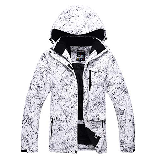 Fashion Women's High Waterproof Windproof Snowboard Colorful Printed Ski Jacket and Pants (style5, M)